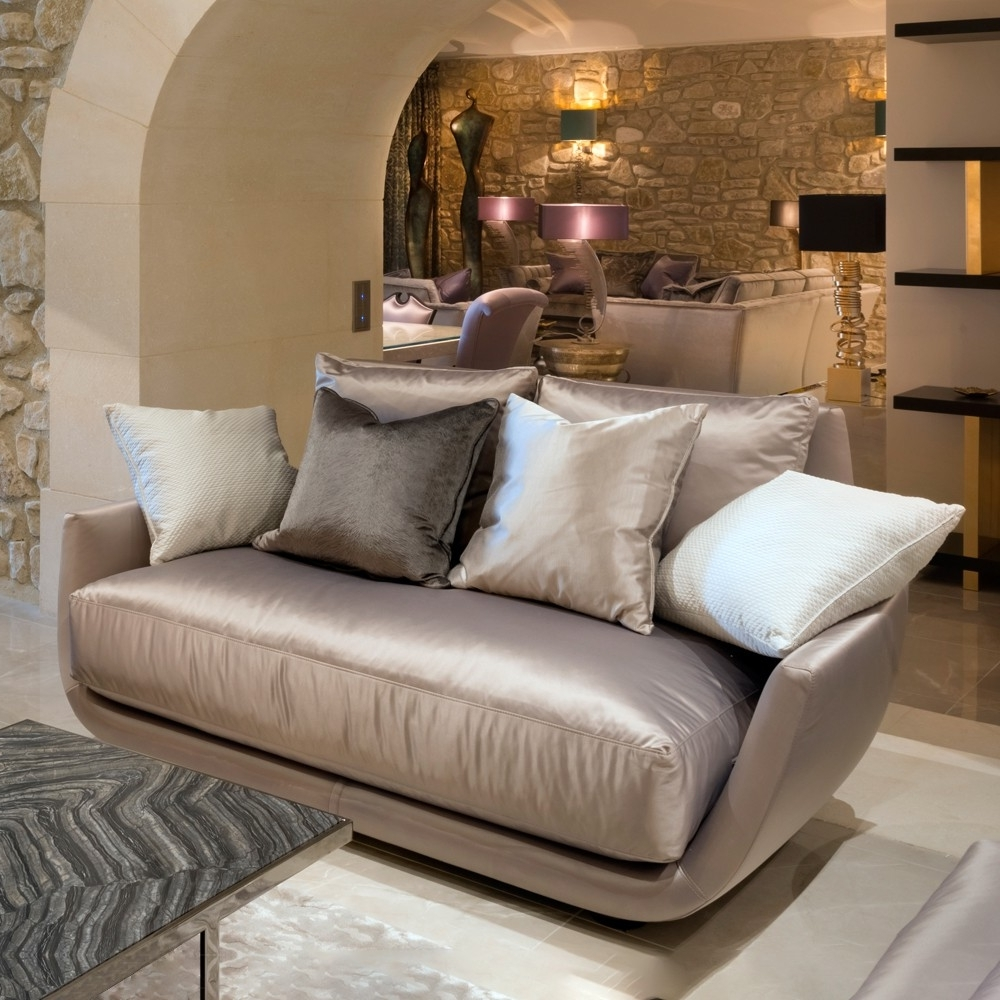 Luxury Sofas Pertaining To Preferred Luxury Modern Two Seater Sofa (View 4 of 15)