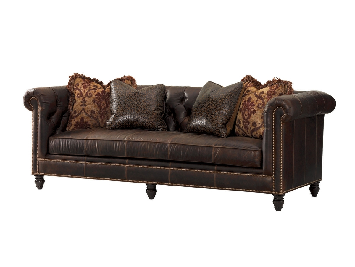 Manchester Sofas For Well Known Tommy Bahama Upholstery Manchester Leather Sofa (View 7 of 15)