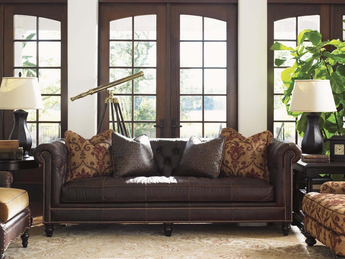 Manchester Sofas In Most Popular Tommy Bahama Upholstery Manchester Leather Sofa (View 7 of 15)