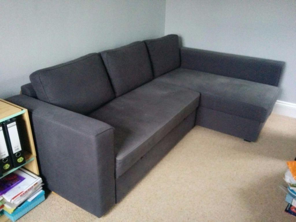 Manstad Sofas For Popular Ikea Manstad Corner Sofa / Sofa Bed, Dark Blue – Loads Of Storage (View 15 of 15)