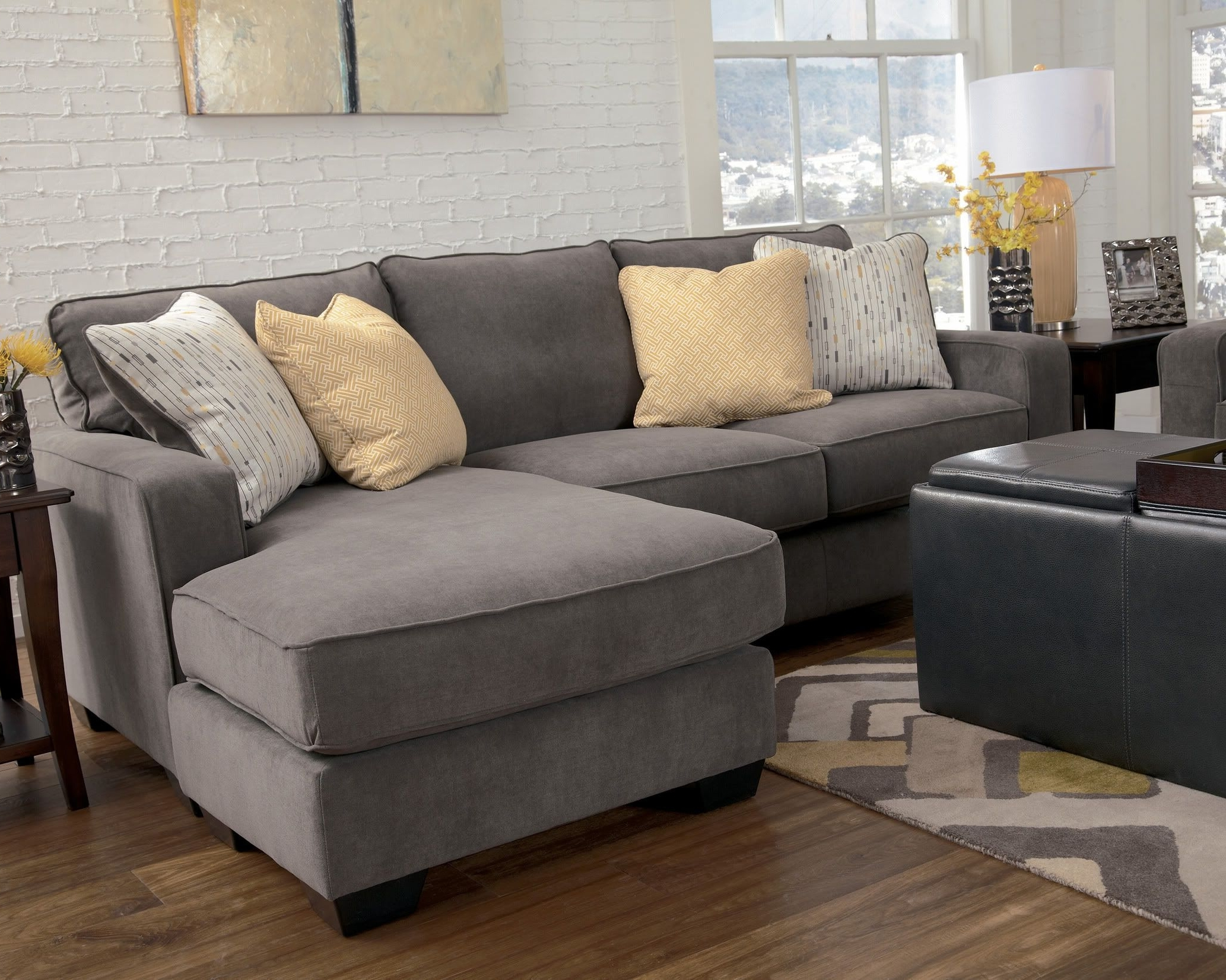 Marble Contemporary Sofa Chaise Living Room Furniture Fabric Within Preferred Sofas With Reversible Chaise (View 7 of 15)