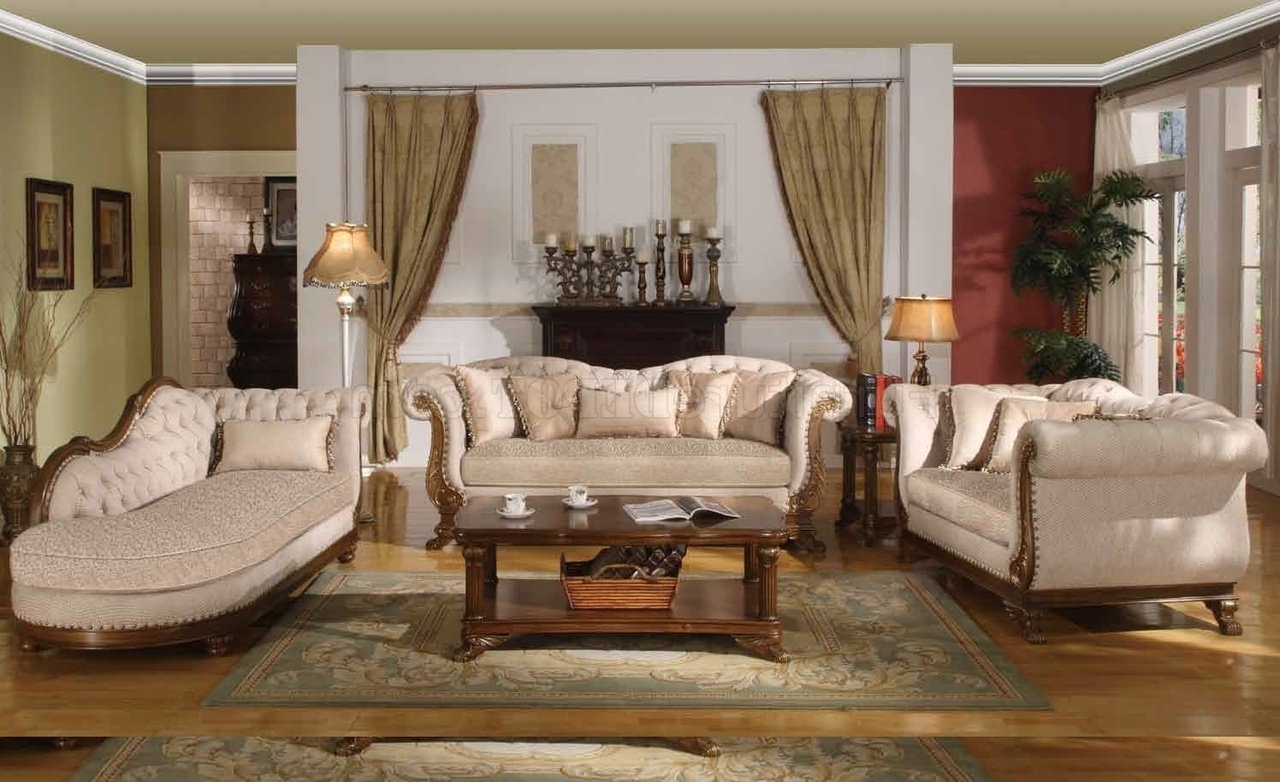 Marcia Traditional Sofa In Fabric W/optional Items Within Famous Traditional Sofas (View 10 of 15)