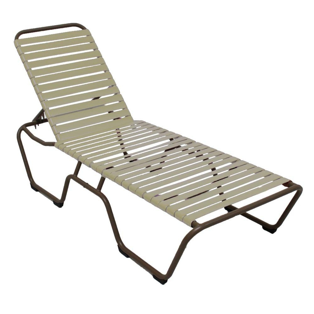 Marco Island Dark Cafe Brown Commercial Grade Aluminum Patio In 2018 Vinyl Outdoor Chaise Lounge Chairs (View 2 of 15)