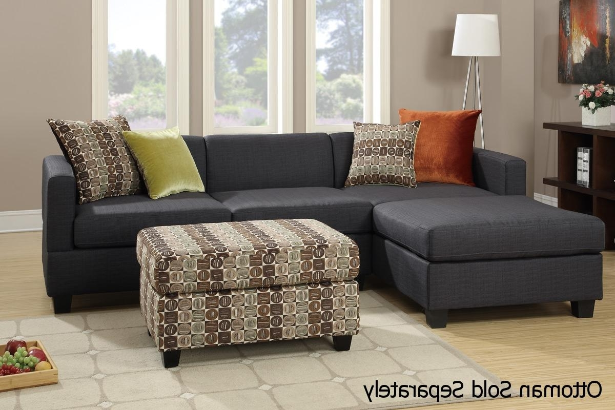 Maribel Black Fabric Sectional Sofa – Steal A Sofa Furniture Inside Trendy Los Angeles Sectional Sofas (View 10 of 15)