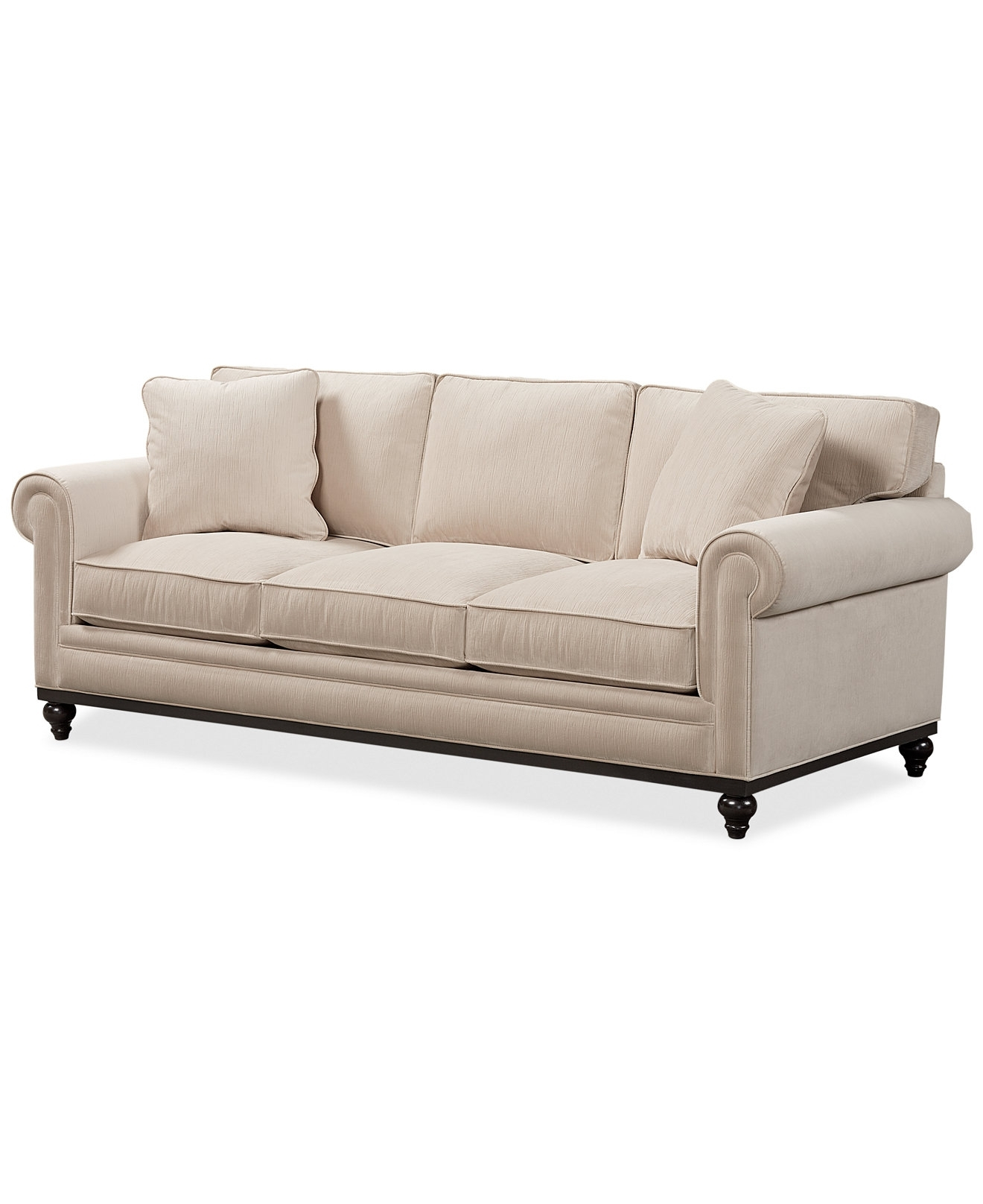Martha Stewart Collection New Club Fabric Roll Arm Sofa – Couches Pertaining To Widely Used Chaise Lounge Chairs At Macy's (View 10 of 15)