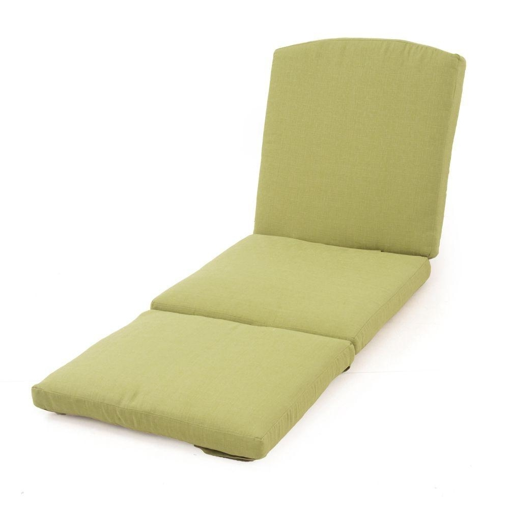 Martha Stewart Living Charlottetown Green Bean Replacement Outdoor In Current Chaise Lounge Pads (View 9 of 15)