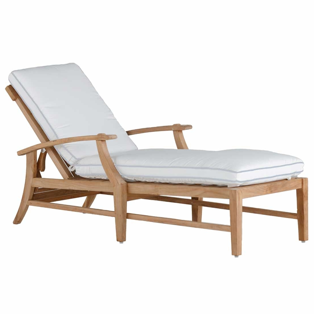 Marvelous Croquet Teak Chaise Summer Classics Contract Throughout Latest Teak Chaise Lounge Chairs (View 3 of 15)