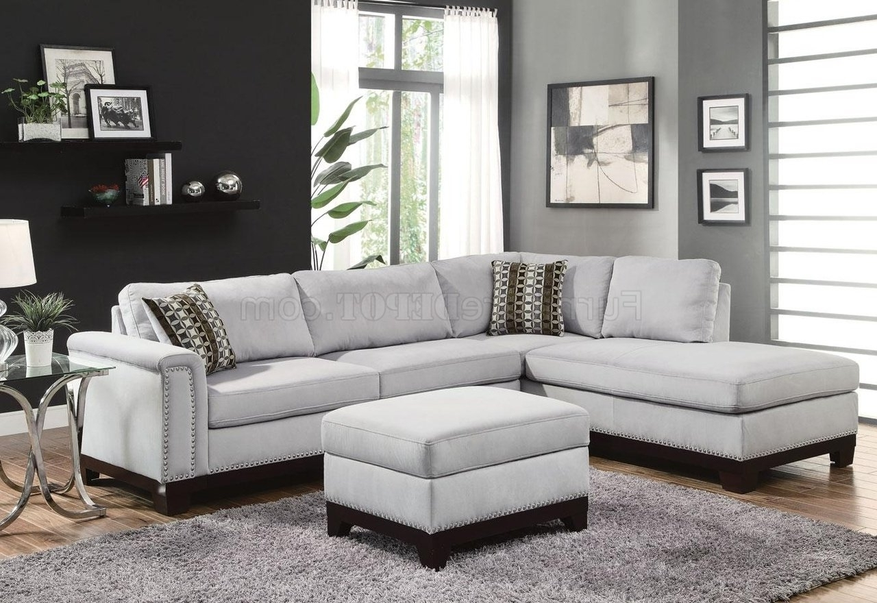 Mason Sectional Sofa 503615 In Blue Grey Fabriccoaster With Regard To Best And Newest Fabric Sectional Sofas (View 10 of 15)