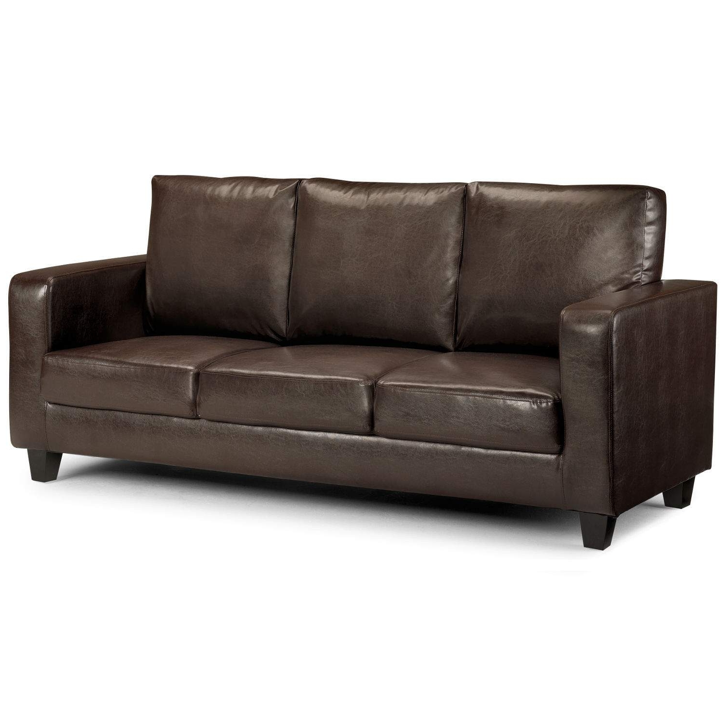Matthew 3 Seater Faux Leather Sofa – Next Day Delivery Matthew 3 With Regard To Most Popular 3 Seater Leather Sofas (View 3 of 15)