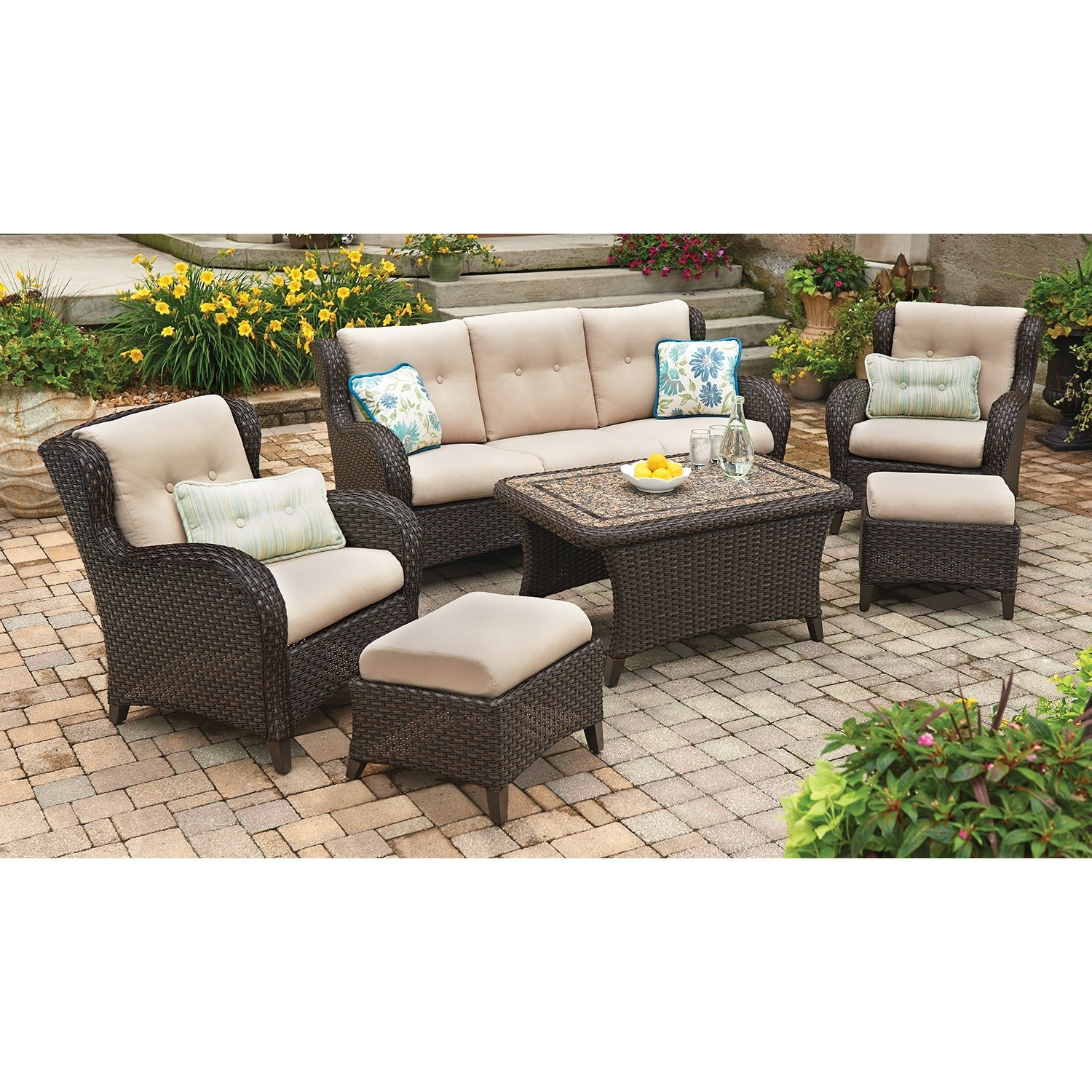 Member's Mark Heritage 6 Piece Deep Seating Set With Premium Throughout Favorite Sam's Club Outdoor Chaise Lounge Chairs (View 5 of 15)