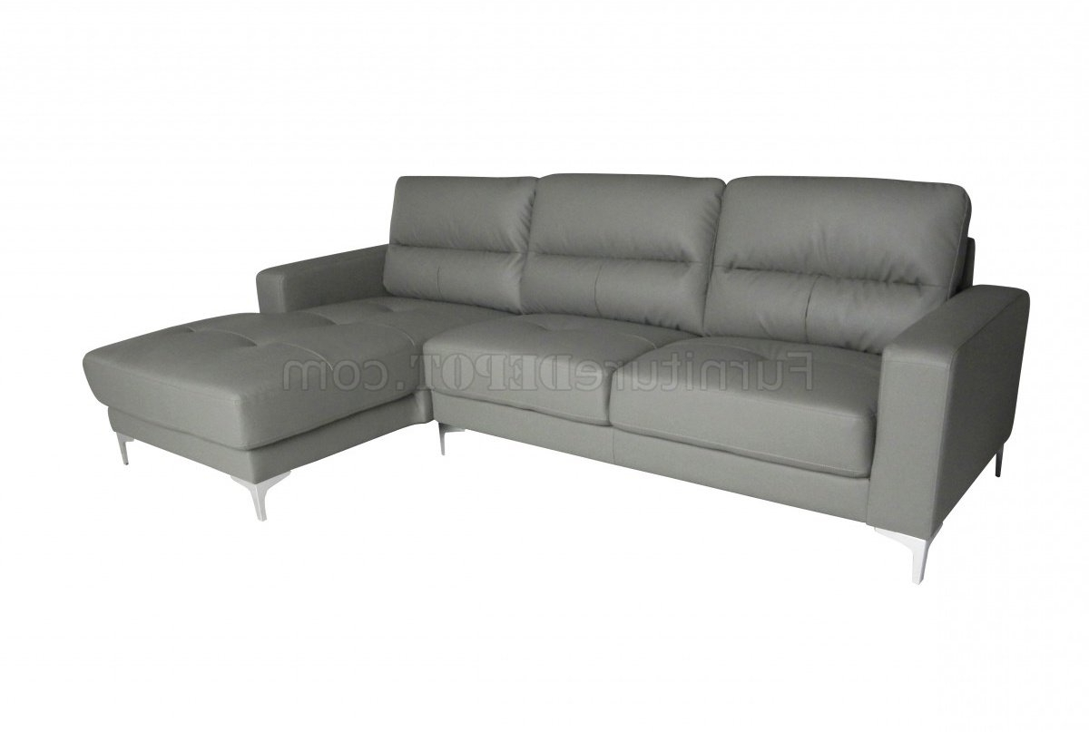 Memphis Sectional Sofas Intended For Fashionable Memphis Sectional Sofa In Gray Bonded Leatherwhiteline (View 9 of 15)