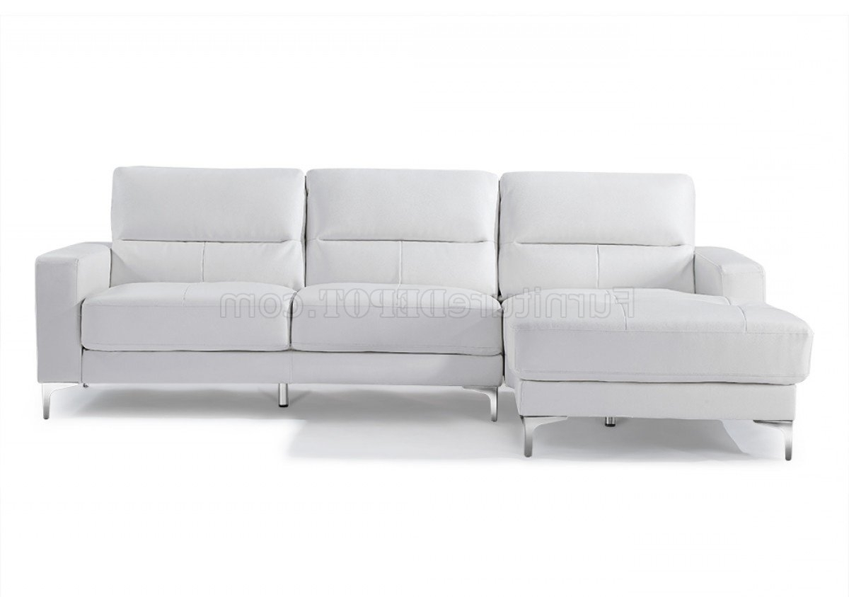 Memphis Sectional Sofas Throughout Trendy Sectional Sofa In White Bonded Leatherwhiteline (View 12 of 15)