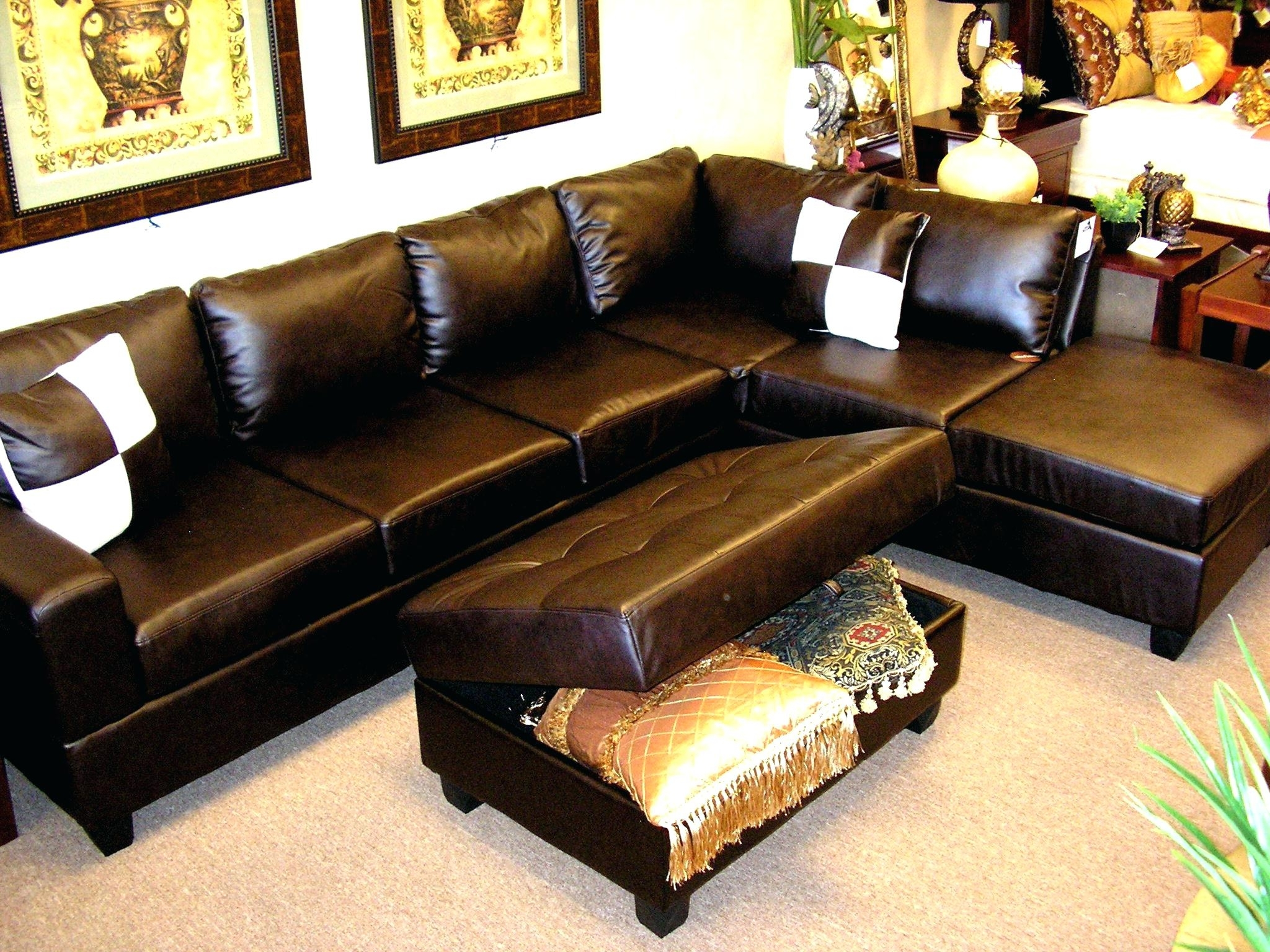 Memphis Tn Sectional Sofas Inside Trendy Sofa Leather Sectional Sofas Collection Of Brown Black Couch For (View 15 of 15)