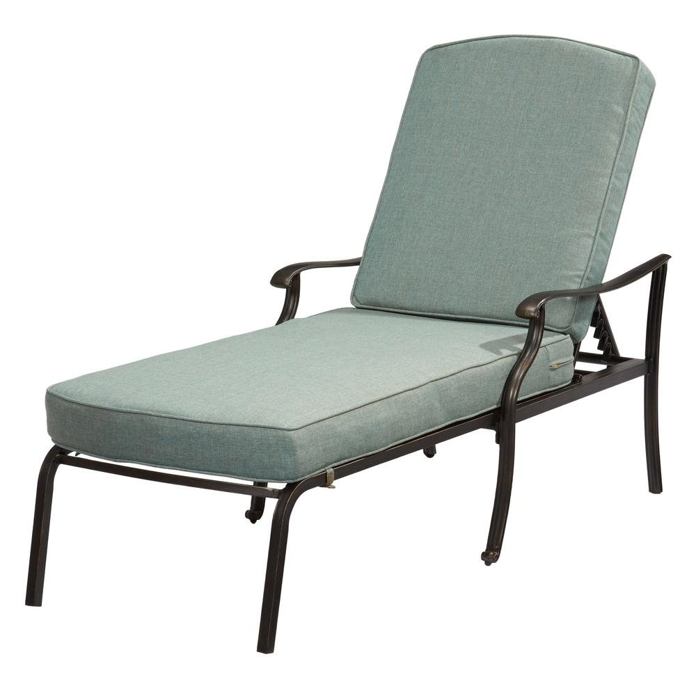 Metal Chaise Lounge Chairs Throughout Well Known Belcourt – Outdoor Chaise Lounges – Patio Chairs – The Home Depot (View 6 of 15)