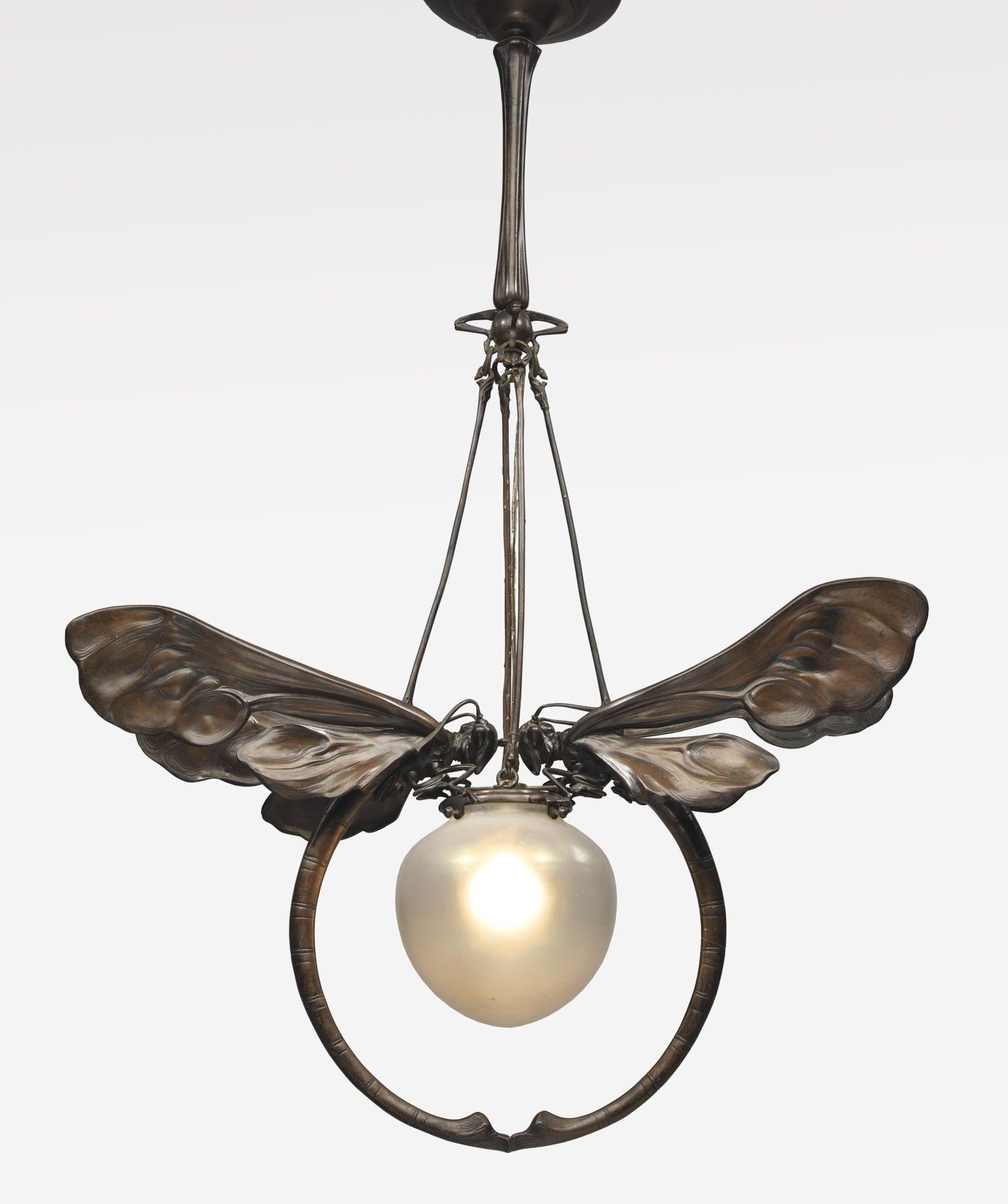 Metal In Art Deco Chandelier (View 14 of 15)