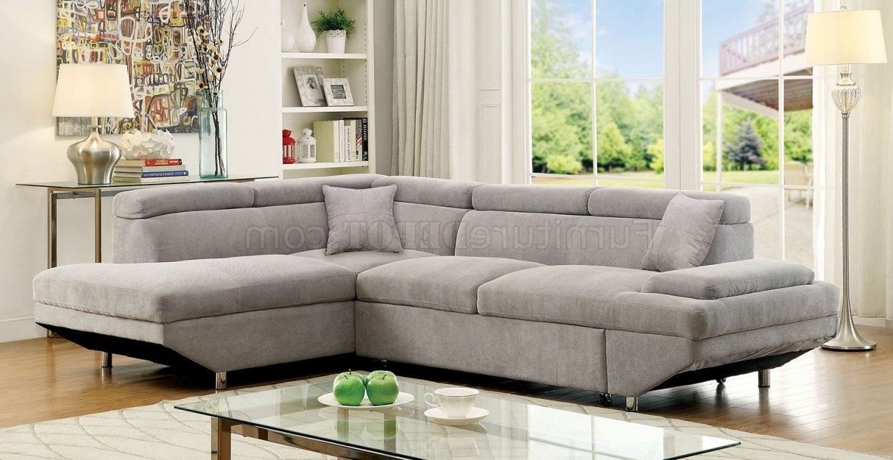 Michigan Sectional Sofas In Current Foreman Sectional Sofa Cm6124Gy In Gray Fabric (View 4 of 15)