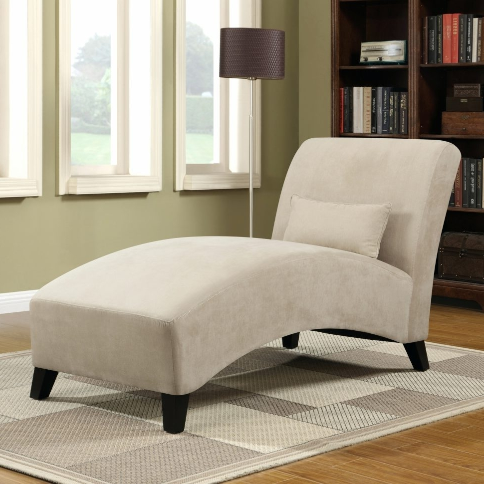 Microfiber Chaise Lounge Chairs Pertaining To Famous Lounge Chair : Comfy Chaise Lounge Chair Bench Chaise Microfiber (View 7 of 15)