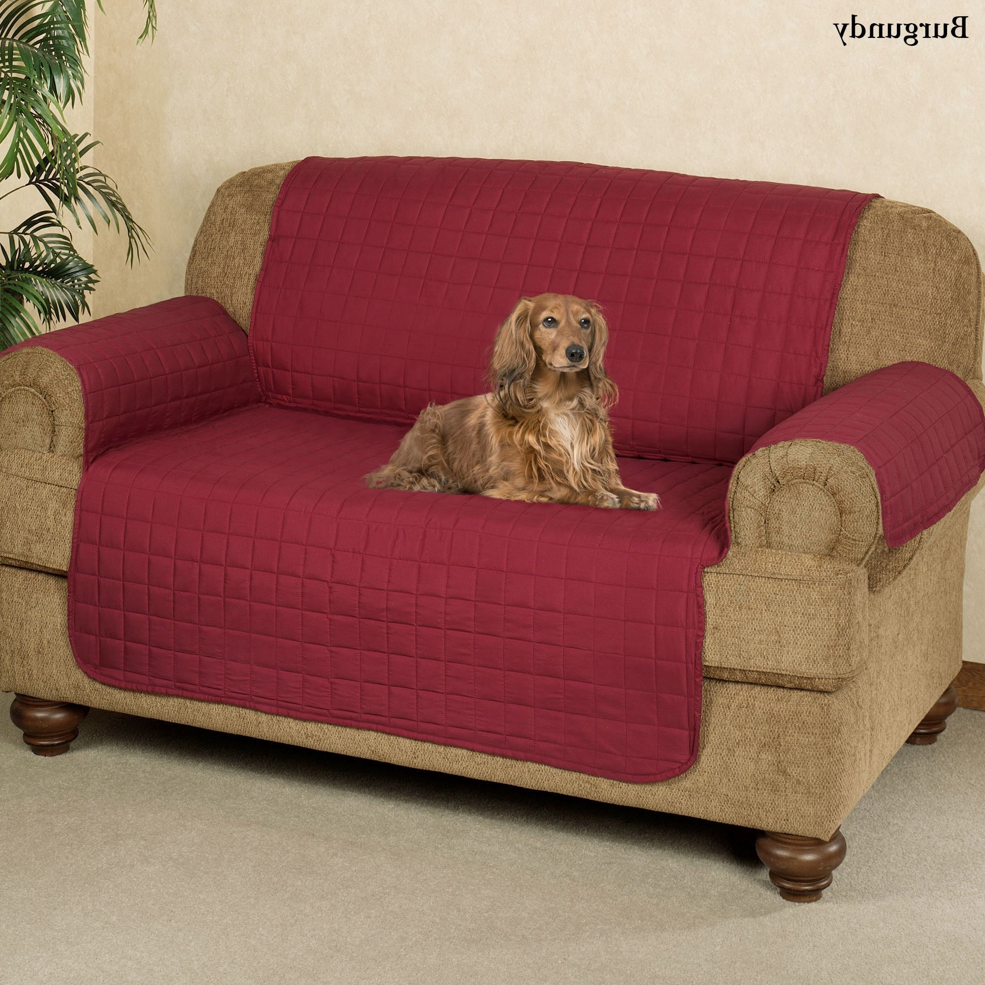 Microfiber Pet Furniture Covers With Tuck In Flaps Pertaining To 2017 Lazy Sofa Chairs (View 11 of 15)