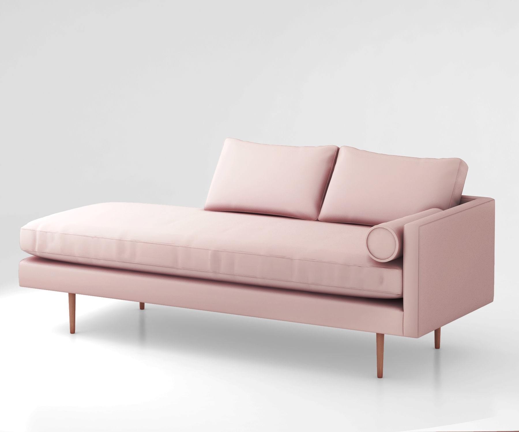 Mid Century Chaises Throughout 2017 Monroe Mid Century Chaise Loungerwest Elm 3D Model Max Obj Mtl Tga (View 2 of 15)