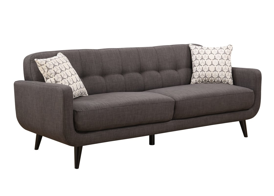 Mid Range Sofas Regarding Favorite Ac Pacific Crystal Mid Century Sofa & Reviews (View 7 of 15)