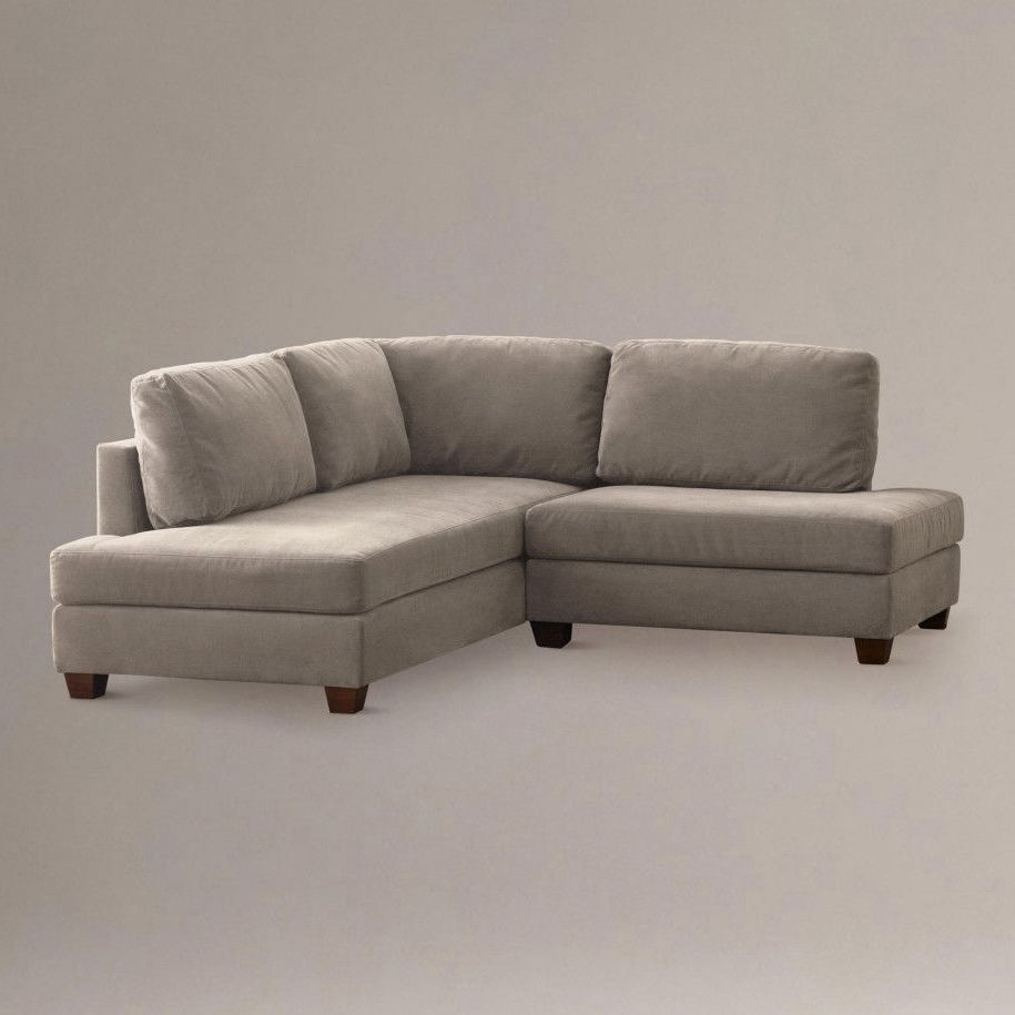 Mini Sectional Sofas With Famous Putty Wyatt Small Sectional Sofa  Close (View 7 of 15)