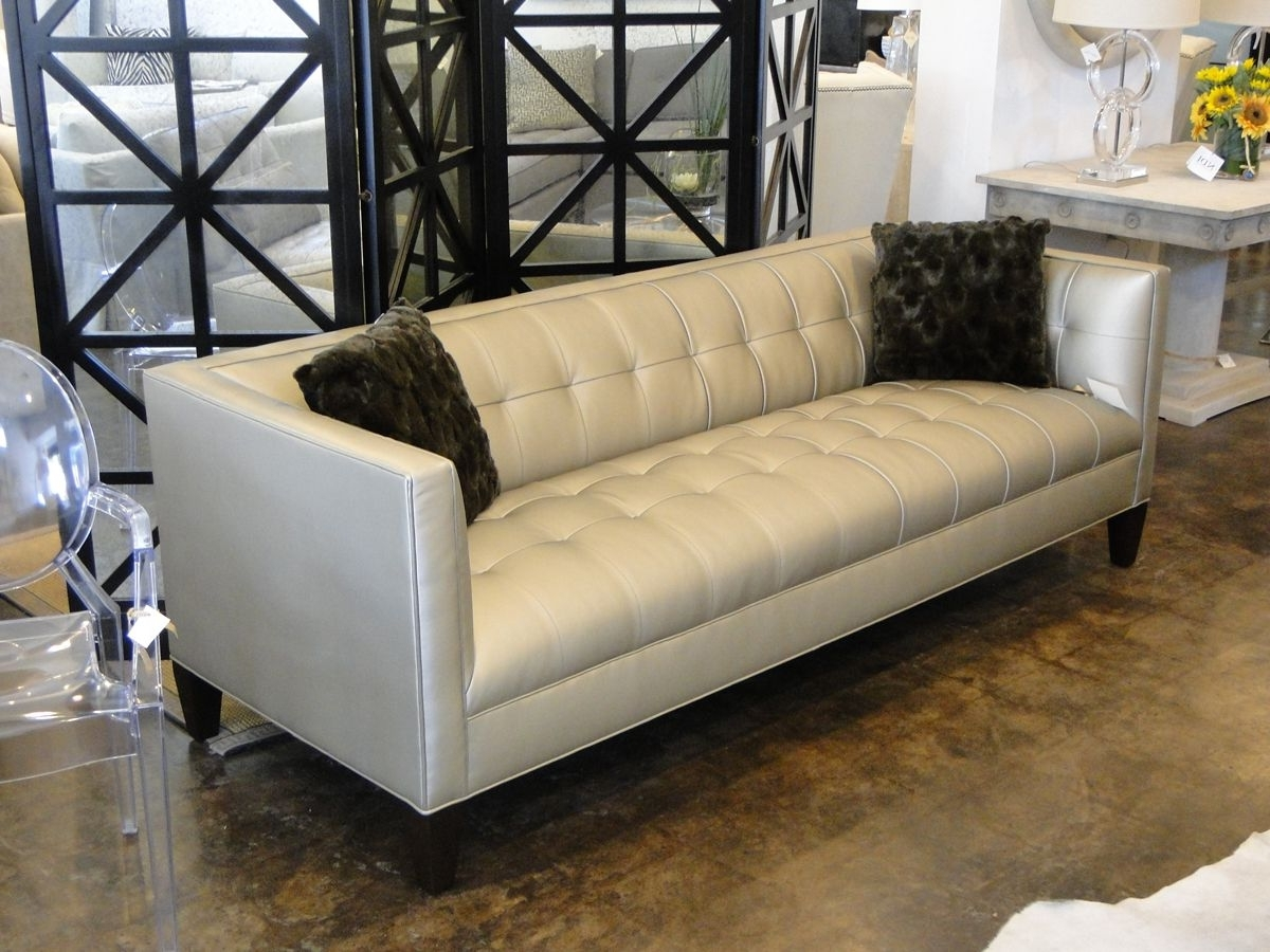 """Mitchell Gold 90"""" Kennedy Sofa In Alloy – Pewter (View 6 of 15)"""