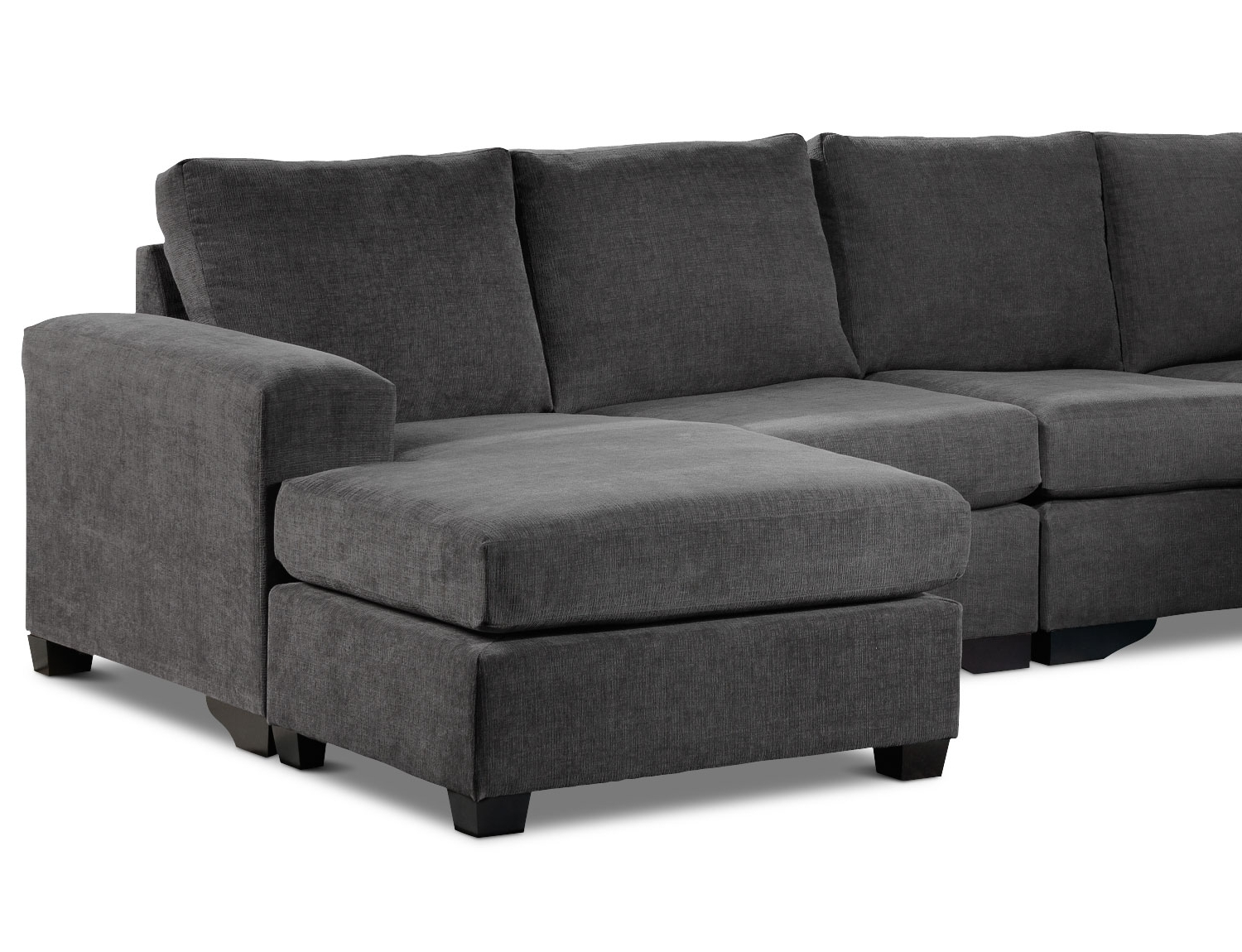 Mobilia Sectional Sofas Within Trendy Danielle 3 Piece Sectional With Right Facing Corner Wedge – Grey (View 9 of 15)