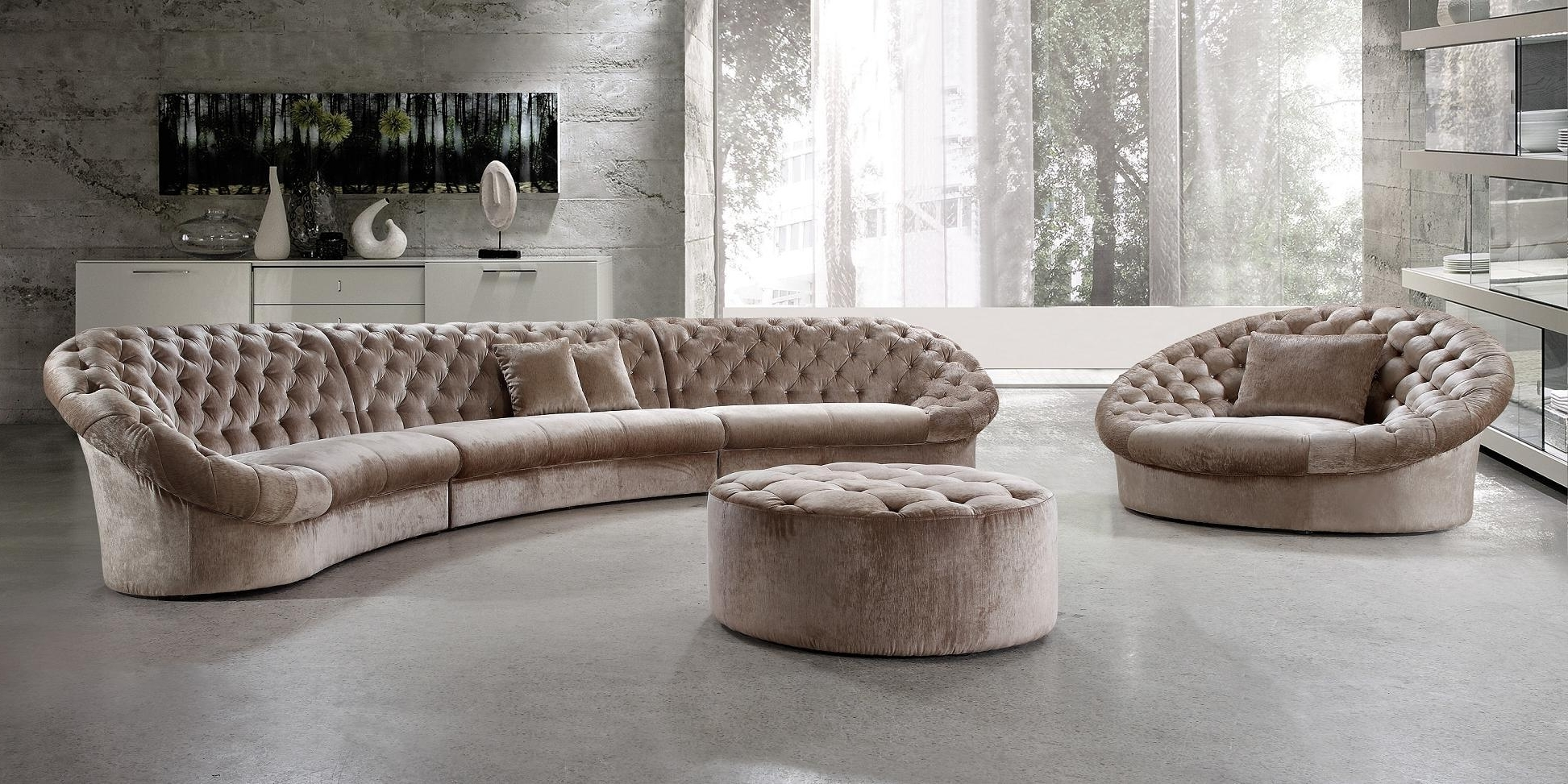 Moc Modern Pertaining To Rounded Corner Sectional Sofas (View 5 of 15)