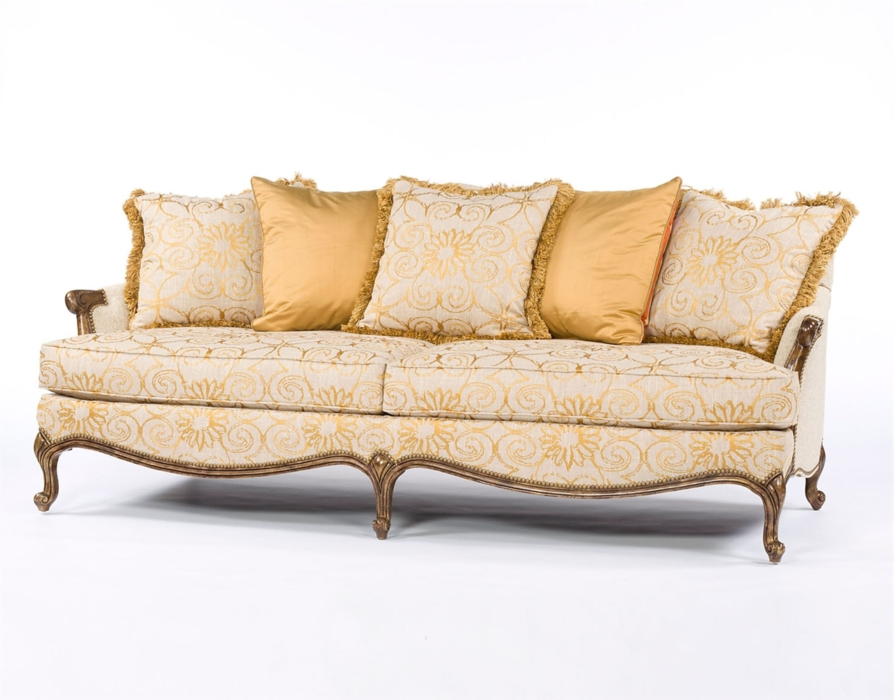 Mod Fabric French Style Sofa Intended For Well Liked French Style Sofas (View 4 of 15)