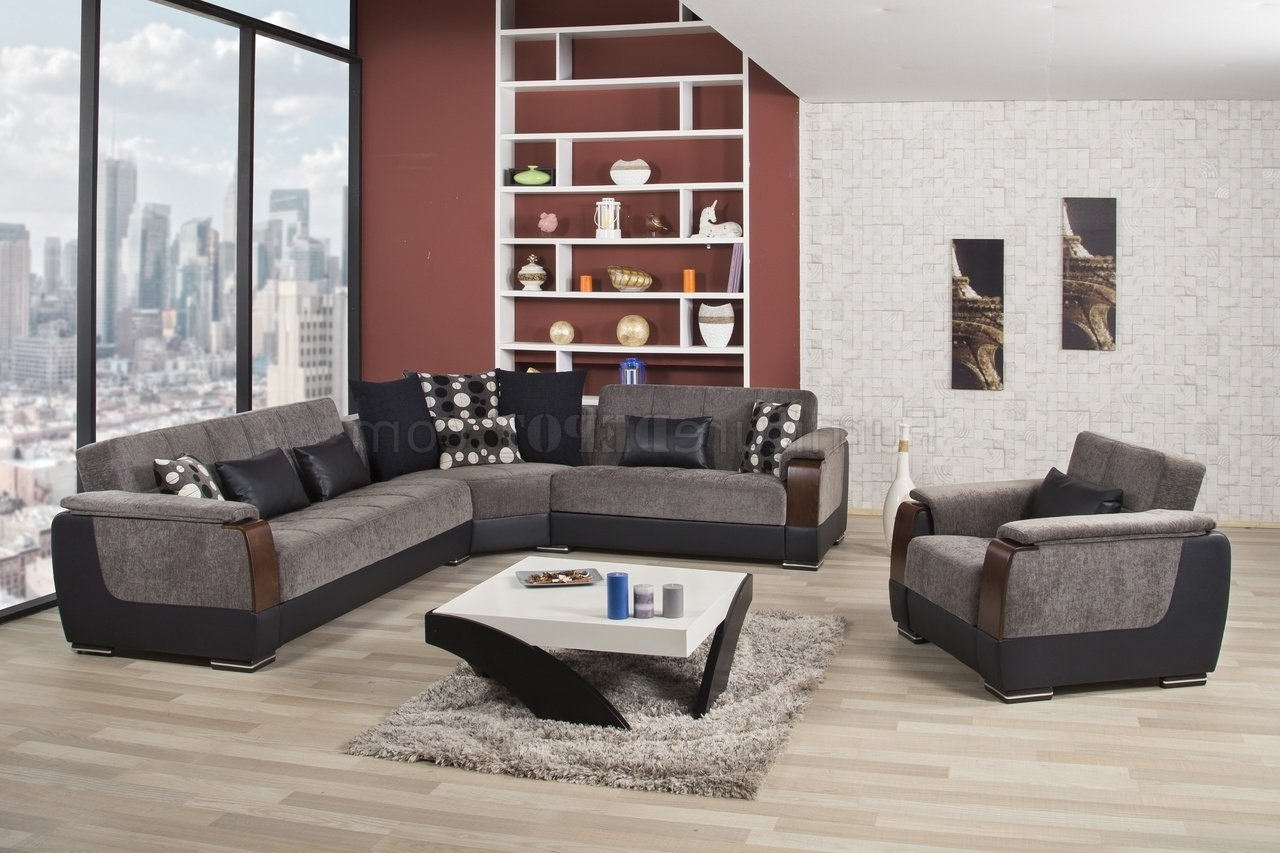 Modena Sectional Sofa In Gray Fabriccasamode W/options Inside Trendy Mn Sectional Sofas (View 9 of 15)