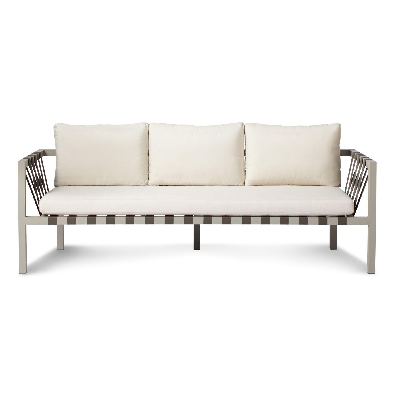 Modern 3 Seater Sofas Regarding Trendy Jibe Outdoor 3 Seat Sofa – Modern Outdoor Sofas (View 10 of 15)