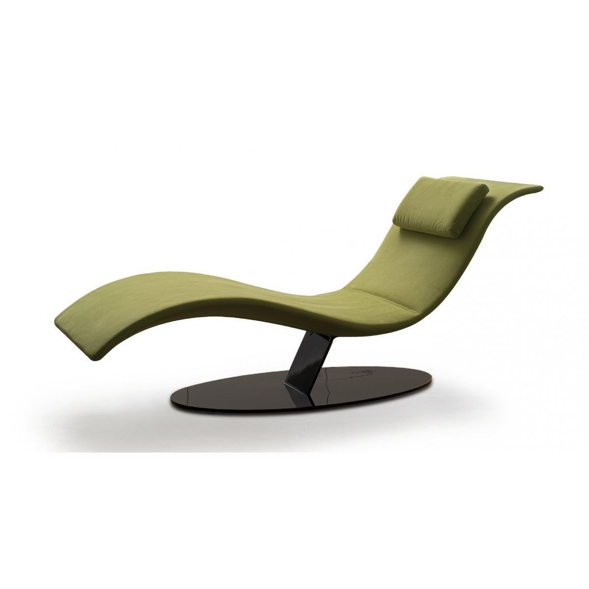 Modern Chaise Longues Throughout Well Known Contemporary Chaise Longue / Fabric / Leather / Polyurethane – Eli (View 8 of 15)
