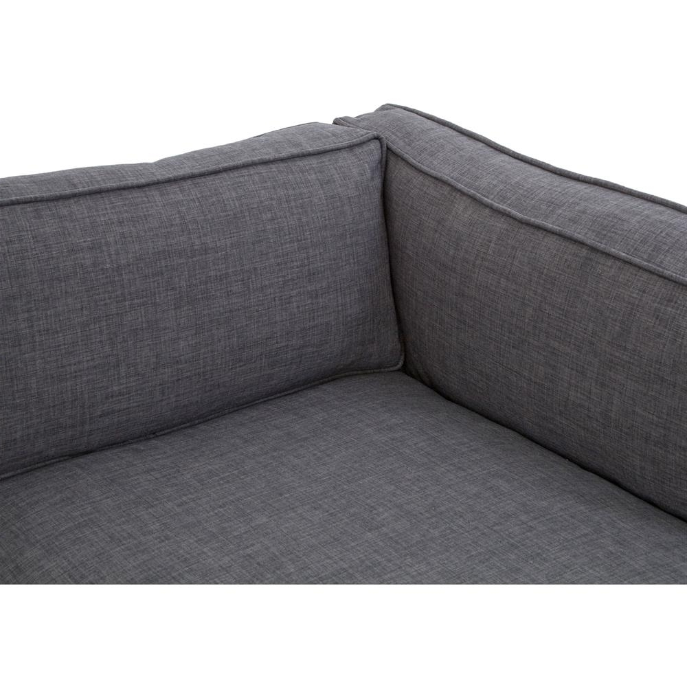Modern Chaise Sofas In Most Recently Released Diorama Modern Classic Charcoal Left Arm Chaise Sectional Sofa (View 4 of 15)