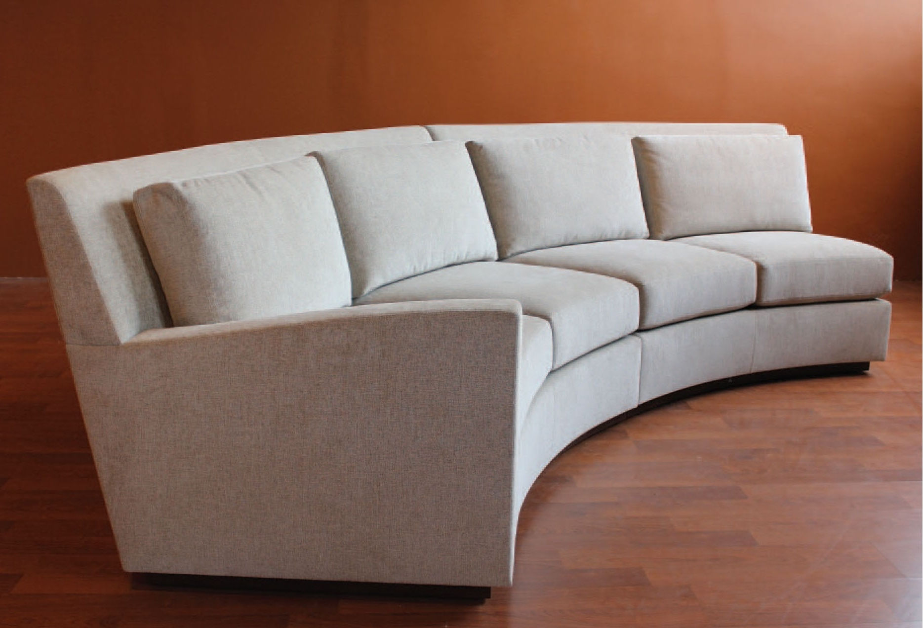 Modern Curved Sofa With Sectional Circular Sofas Round Sectionals Within 2017 Rounded Sofas (View 3 of 15)