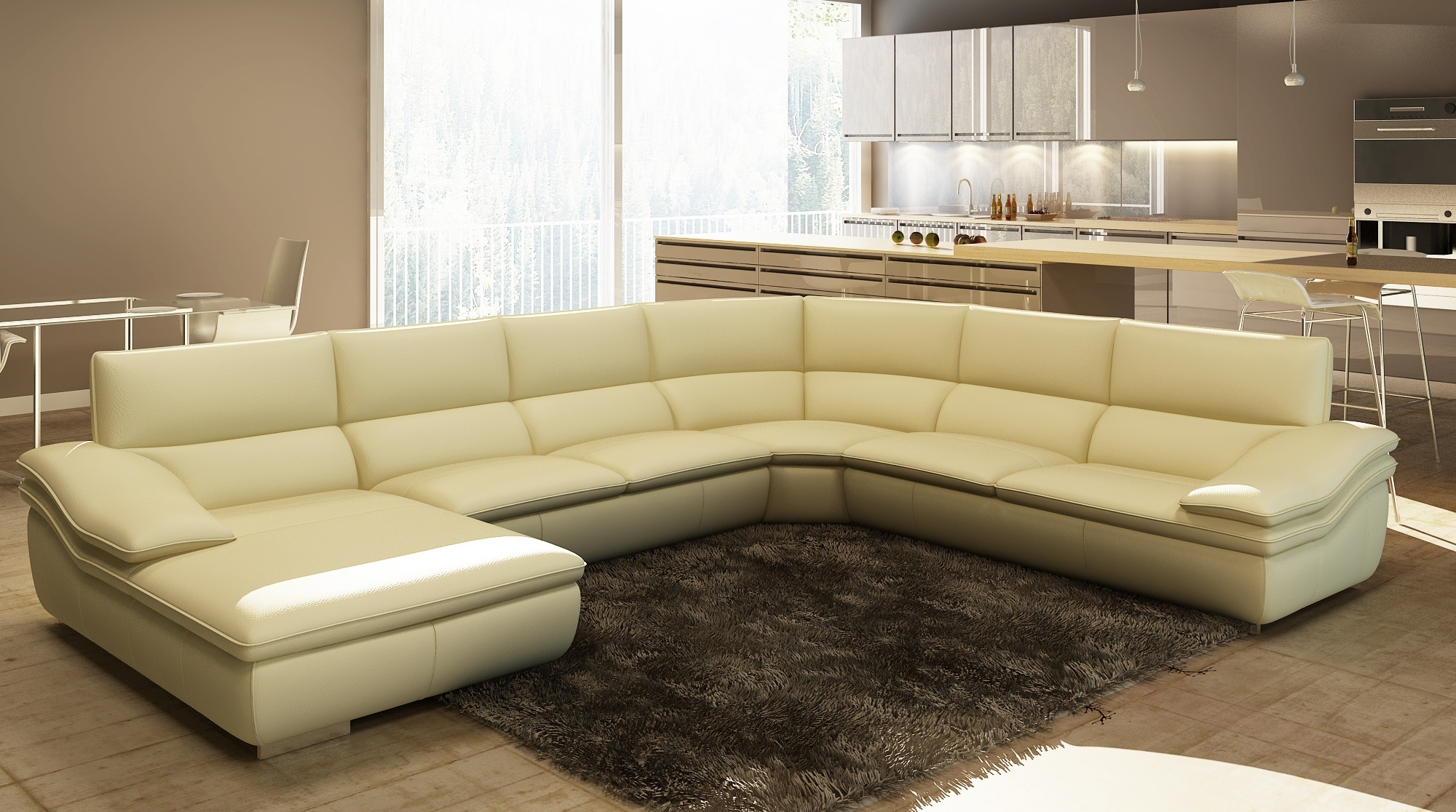 Modern Curved Sofas And U Shaped Couches With Best And Newest Modern U Shaped Sectional Sofas (View 6 of 15)