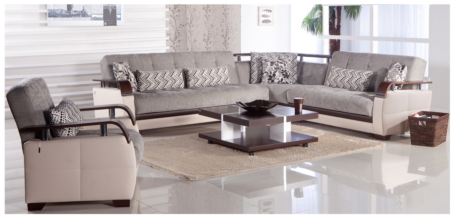 Modern Microfiber Sectional Sofas Regarding Widely Used Contemporary Microfiber Sectional Sofa (View 8 of 15)