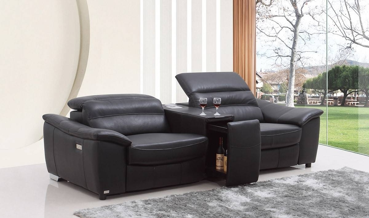 Modern Reclining Leather Sofas For Most Current Sofa : Modern Reclining Leather Sofas Memorable Modern Sectional (View 8 of 15)