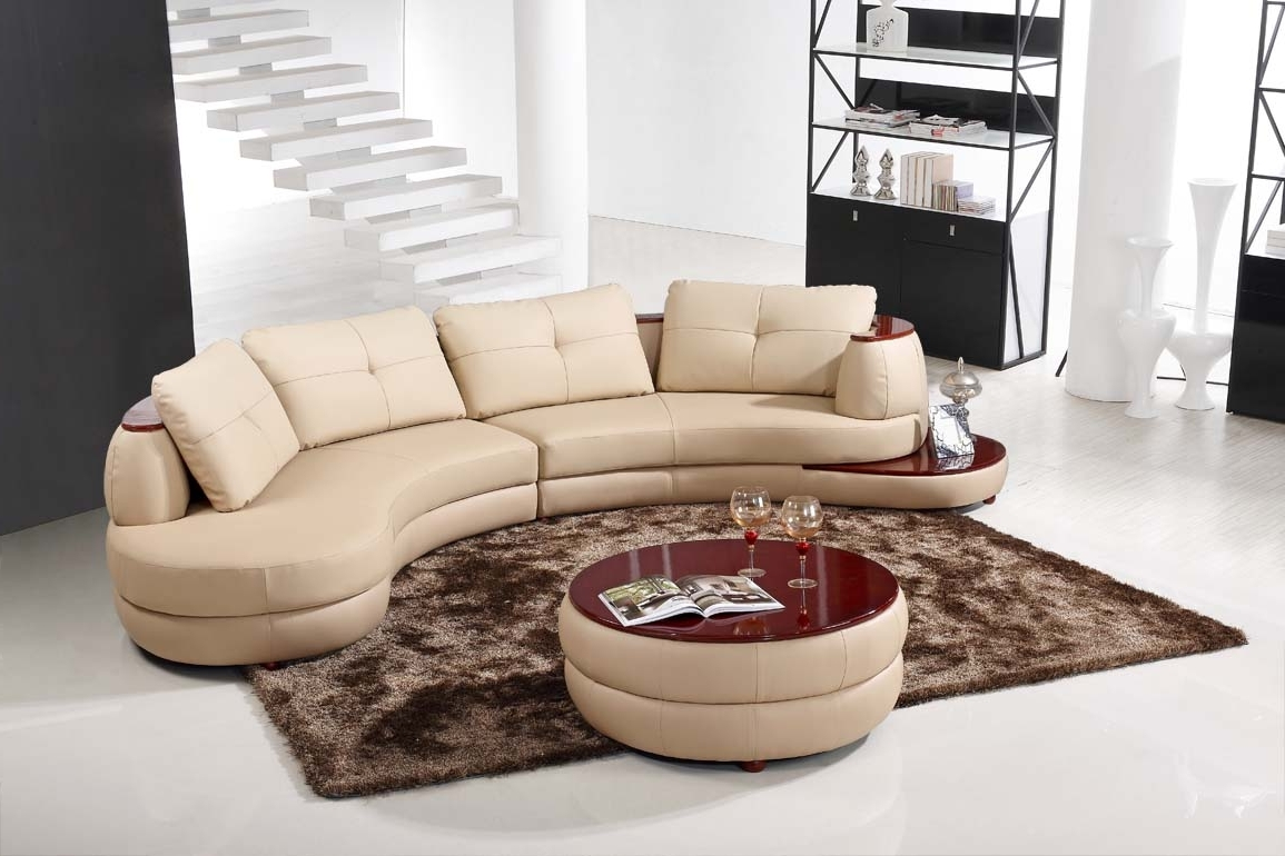 Modern Round Sectional Sofa — Fabrizio Design : How To Rebuild A Within Favorite Rounded Sofas (View 5 of 15)