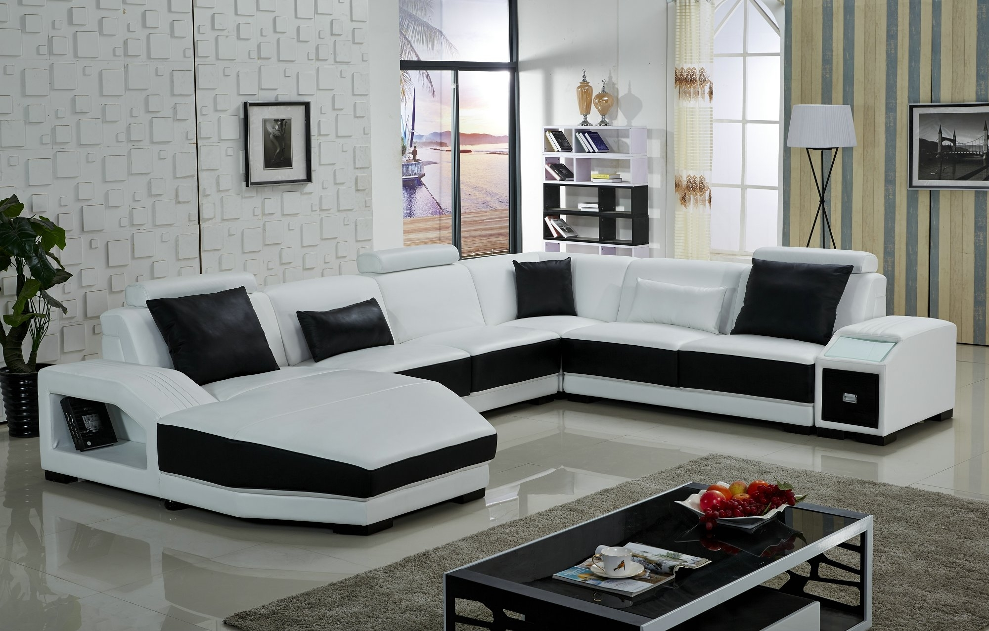 Modern U Shaped Sectionals Inside Popular Sofa : U Shaped Leather Sofa Ikea Couch Ikea Chaise Couch Fabric (View 8 of 15)