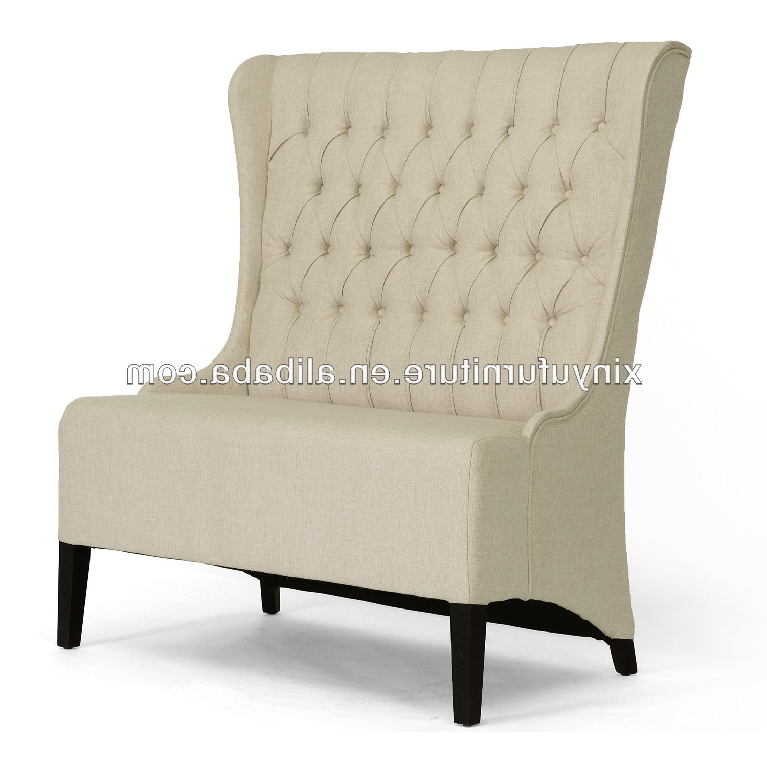 Modern White High Back Loveseat Furniture, Modern White High Back Throughout Recent High Back Sofas And Chairs (View 15 of 15)