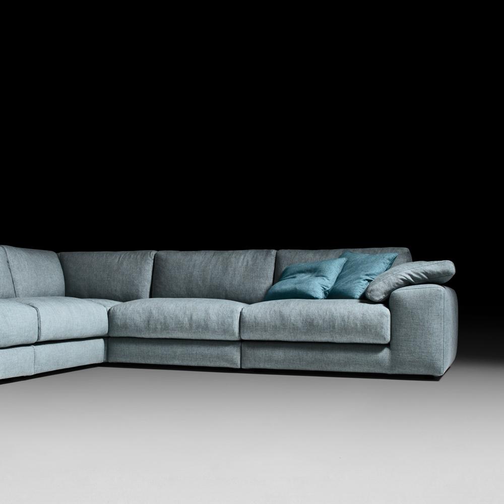 Modular Corner Sofas Intended For Well Known Italian Designer Linen Modular Corner Sofa (View 13 of 15)