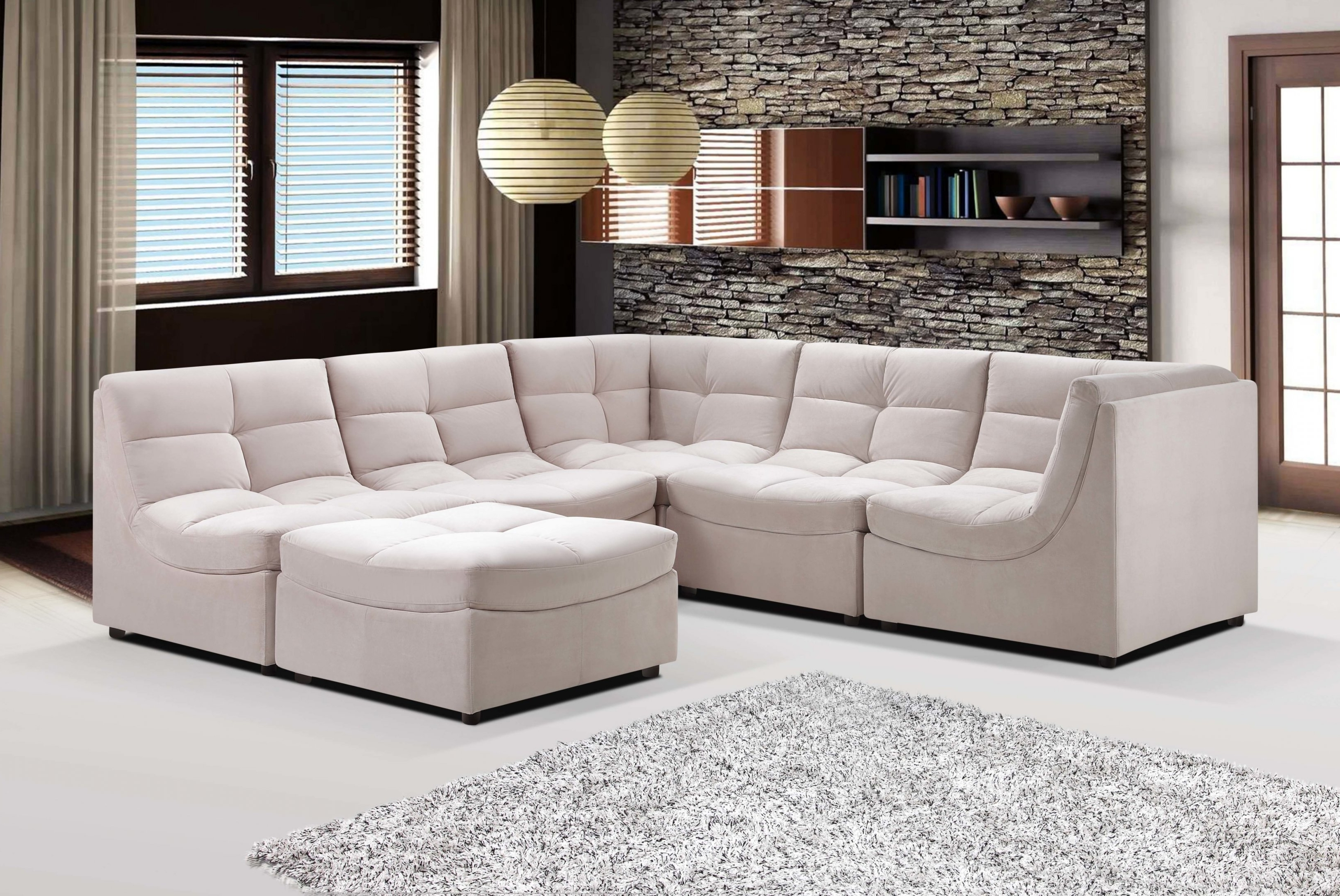 Modular Sectional Sofas For Most Popular Small Modular Sectional Sofa 21 For Your Sofa Sectionals For Cloud (View 4 of 15)