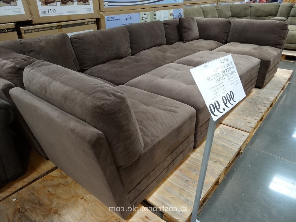 Modular Sectional Sofas Throughout Current Stacey Leather Sectional Sofa 5 Piece Modular Pit • Leather Sofa (View 11 of 15)