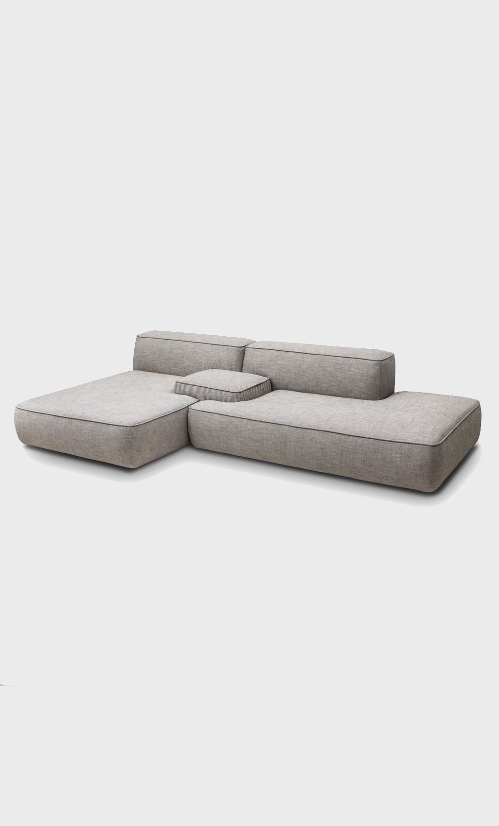 Modular Sofa: No Legs Or Really Small Low Legs (View 3 of 15)