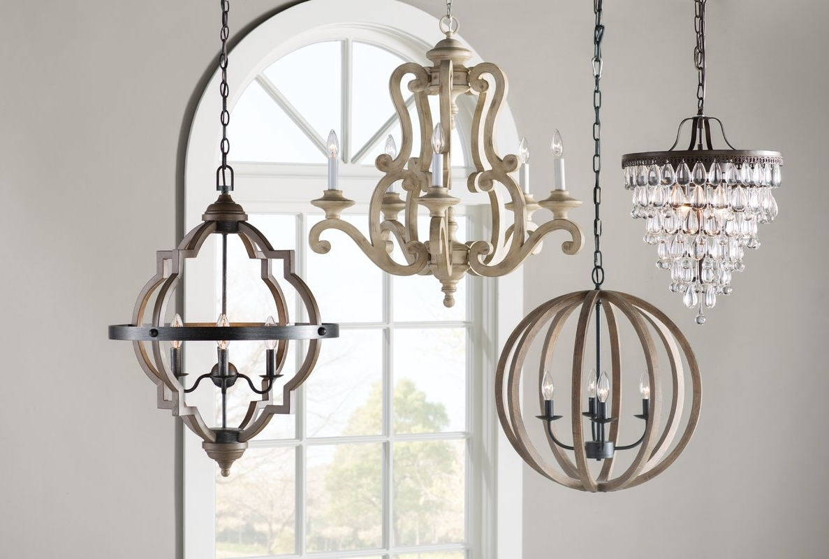 Most Current 4 Light Crystal Chandeliers In One Allium Way Outland 4 Light Crystal Chandelier & Reviews (View 13 of 15)