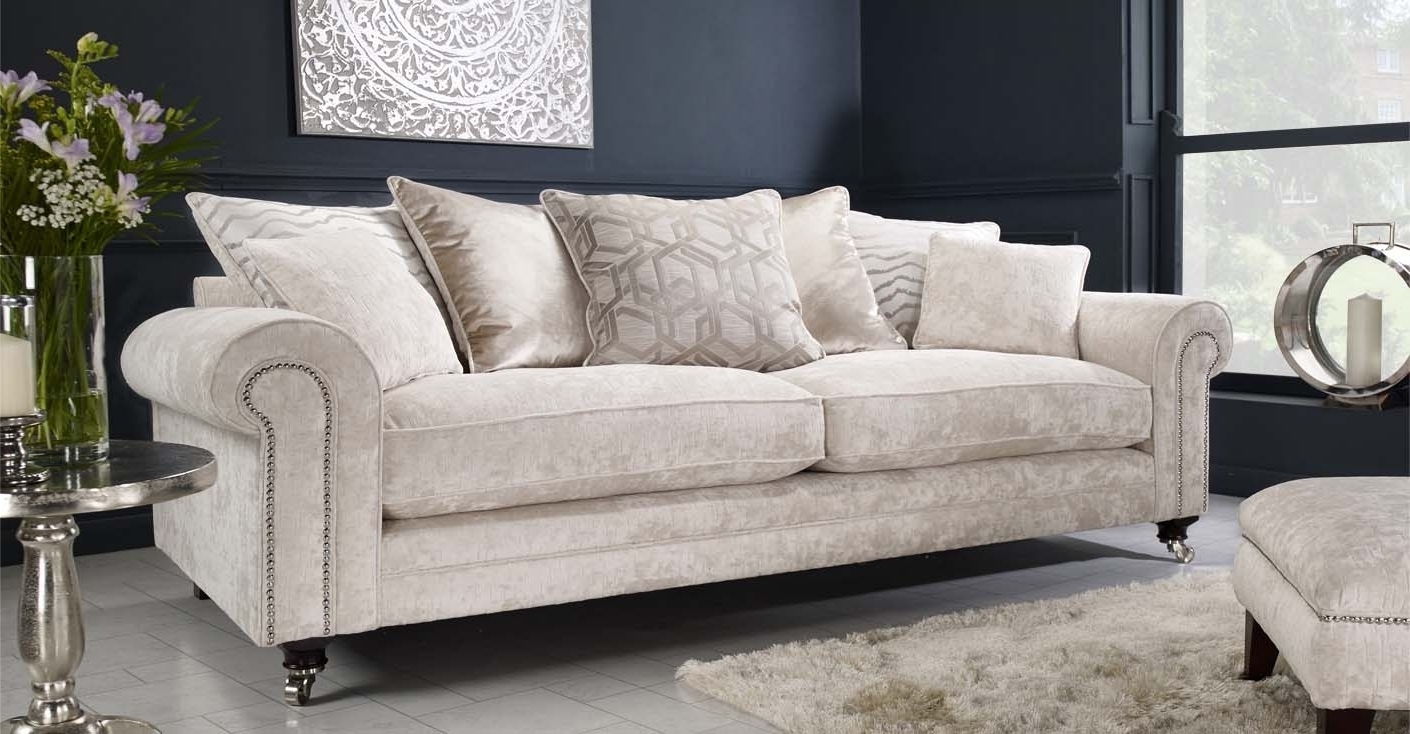 Most Current 4 Seater Sofas Pertaining To Pillow 4 Seater Sofa (View 6 of 15)