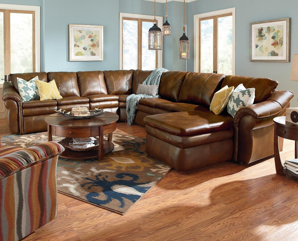 Most Current 5 Piece Power Reclining Sectional With Ras Chaise And 2 Recliners Pertaining To Lazy Boy Chaise Lounges (View 14 of 15)