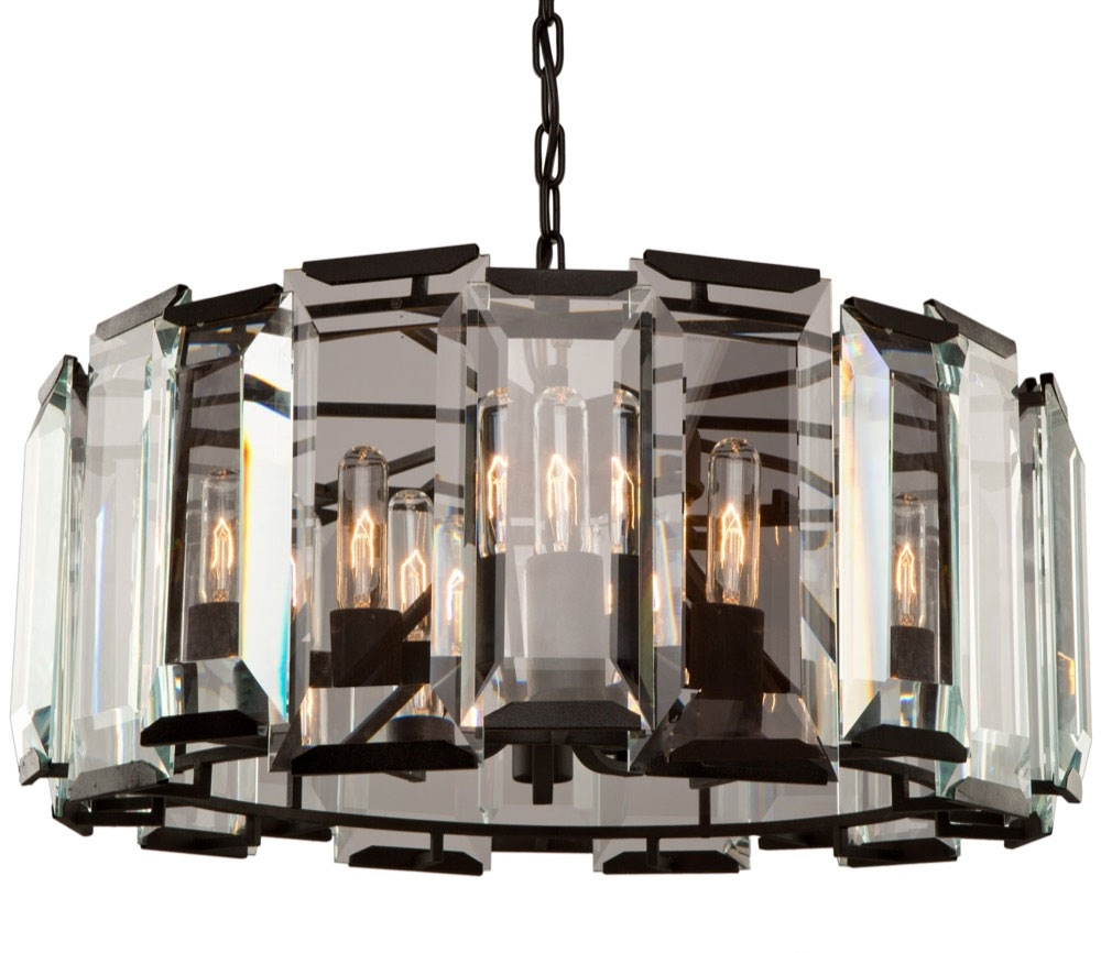 Most Current Artcraft Ac10269 Palisades Modern Matte Black Chandelier Lighting Intended For Contemporary Black Chandelier (View 8 of 15)