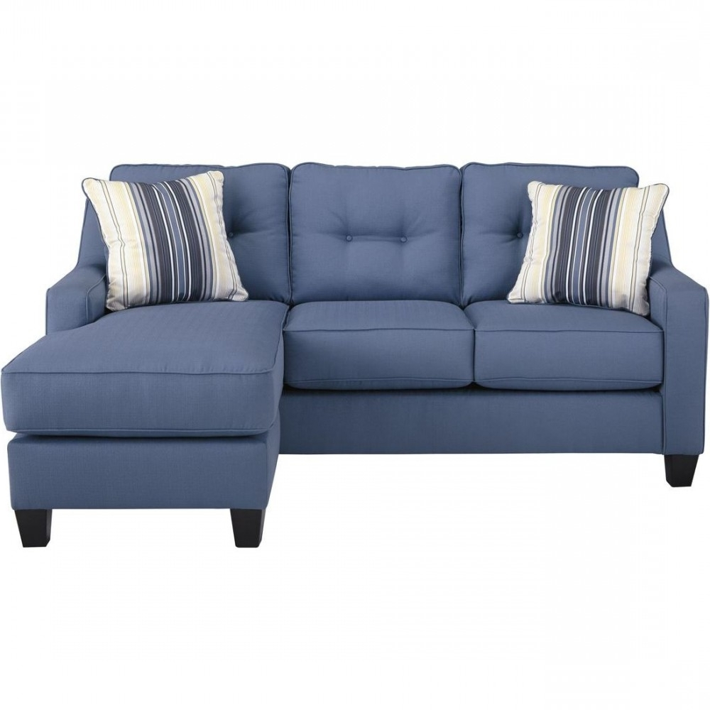 Most Current Ashley Chaise Sofas With Ashley Furniture Aldie Nuvella Sofa Chaise In Blue (View 7 of 15)