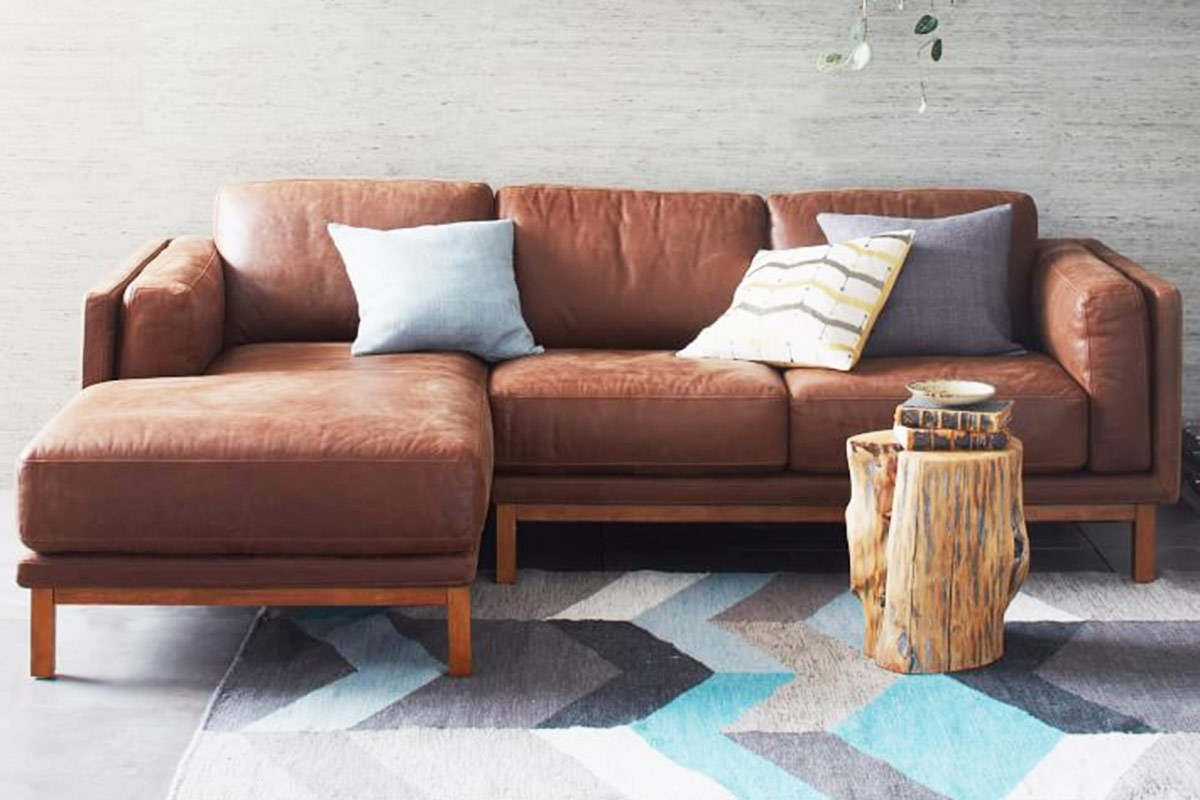 Most Current Austin Leather Sofa Pottery Barn (View 7 of 15)
